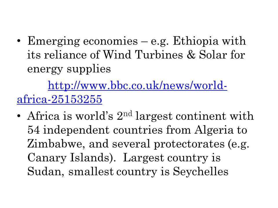 Emerging economies – e.g.