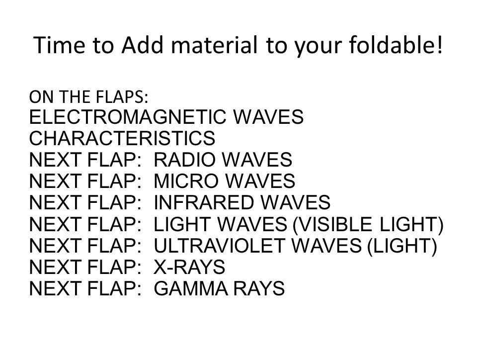 Time to Add material to your foldable.