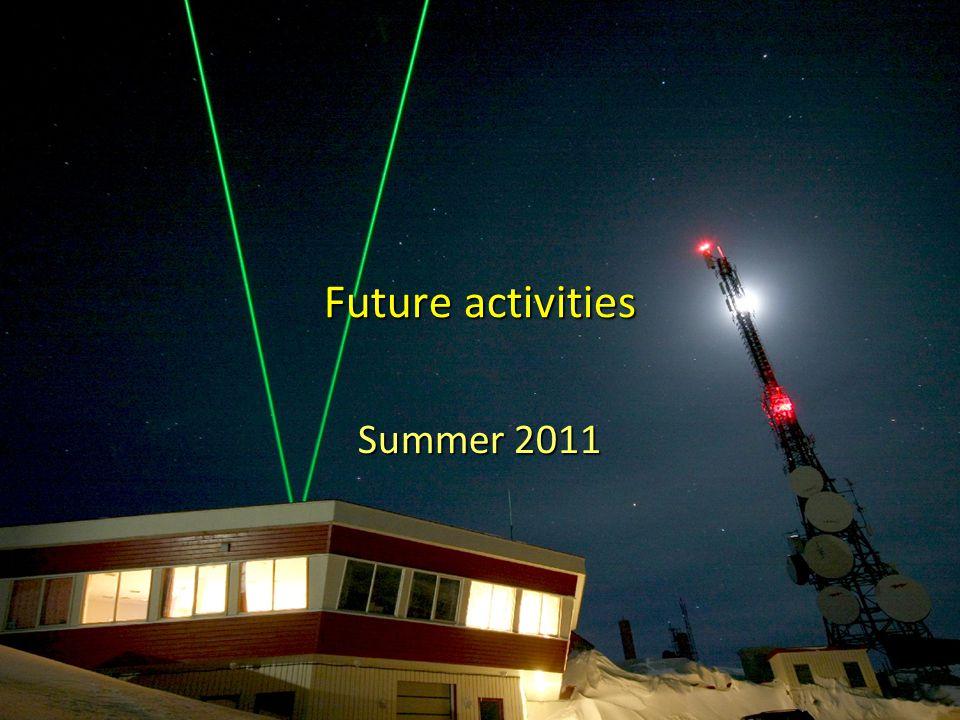 2926th ALOMAR RMR-Lidar meeting - Norderstedt20.03.2011 Future activities Summer 2011