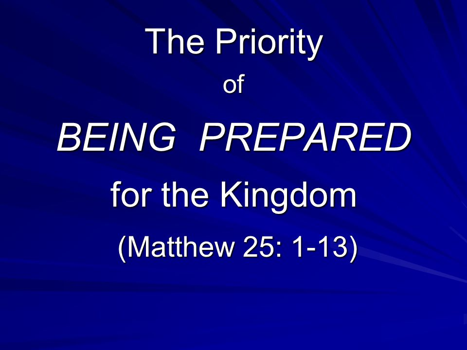 Then the kingdom of heaven will be like …..