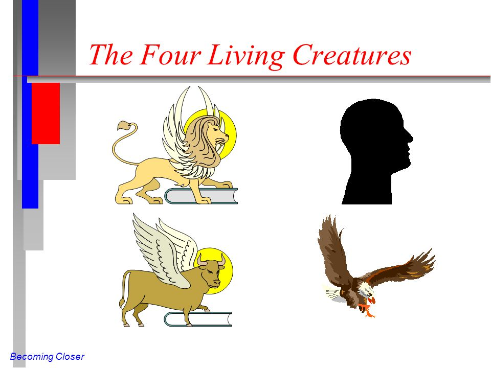 Becoming Closer The Four Living Creatures