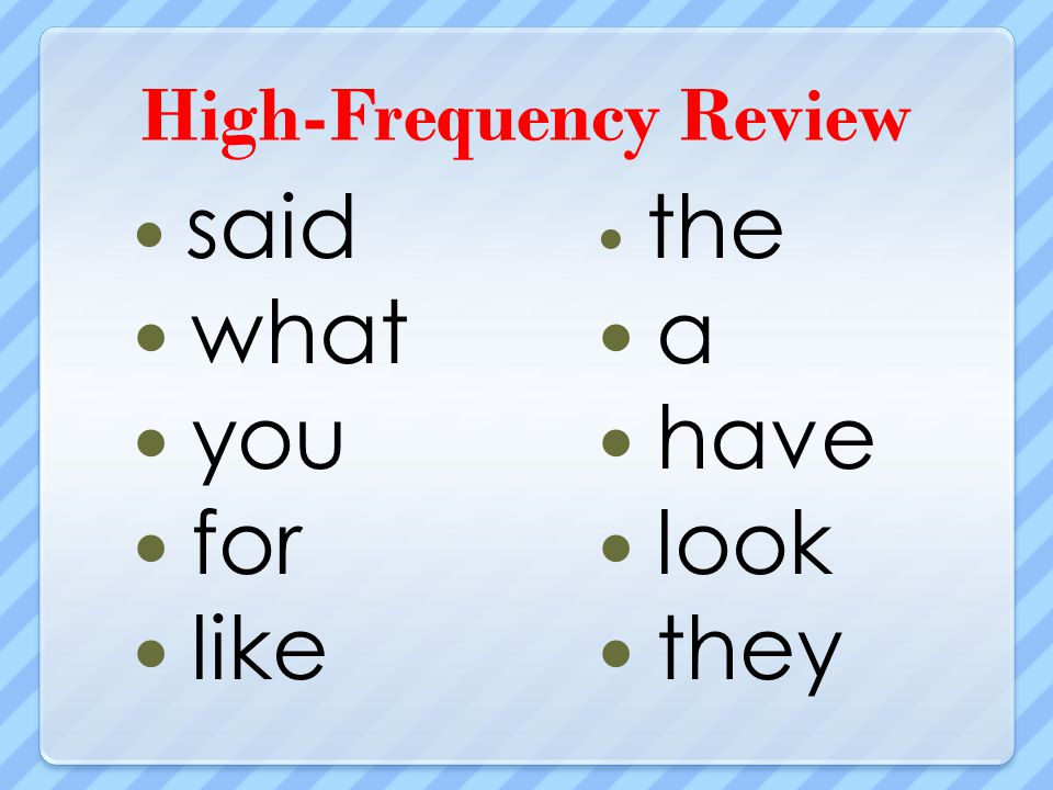 High-Frequency Review said what you for like the a have look they