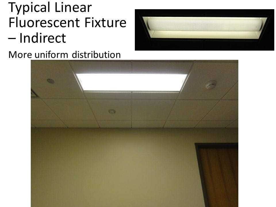 Typical Linear Fluorescent Fixture – Direct Note cave effect