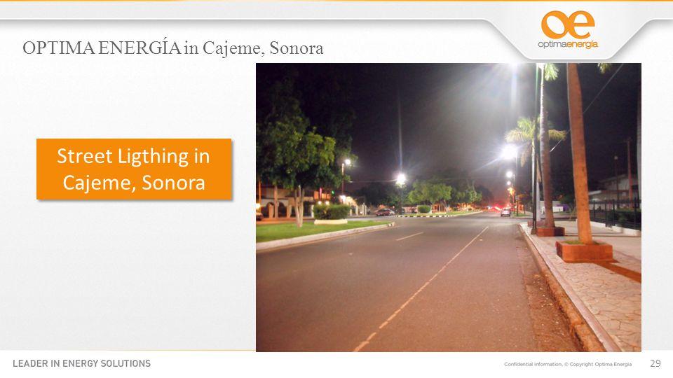 29 Street Ligthing in Cajeme, Sonora OPTIMA ENERGÍA in Cajeme, Sonora