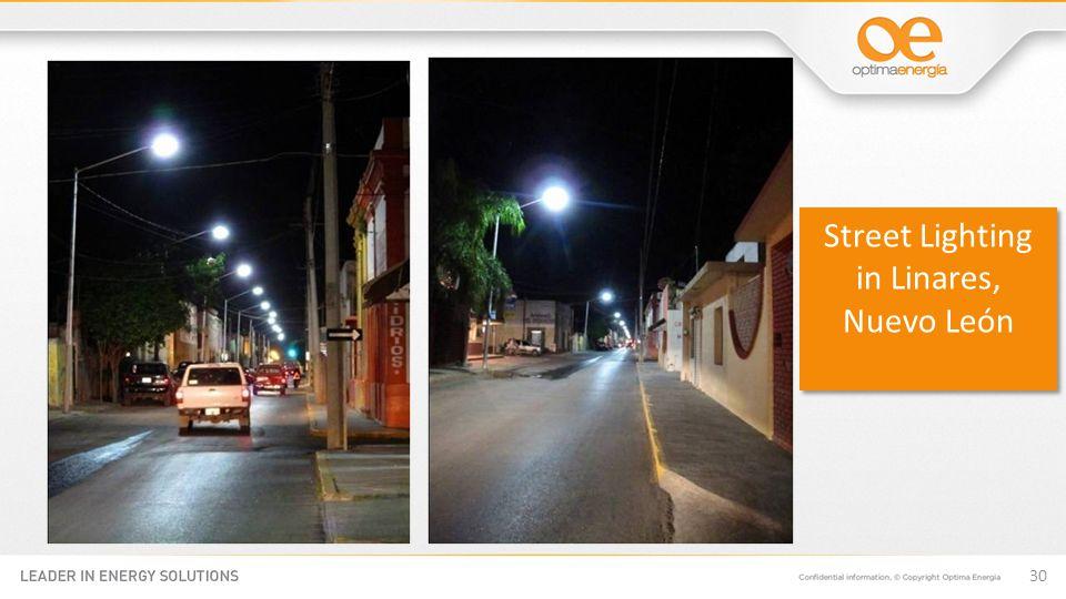 30 Street Lighting in Linares, Nuevo León