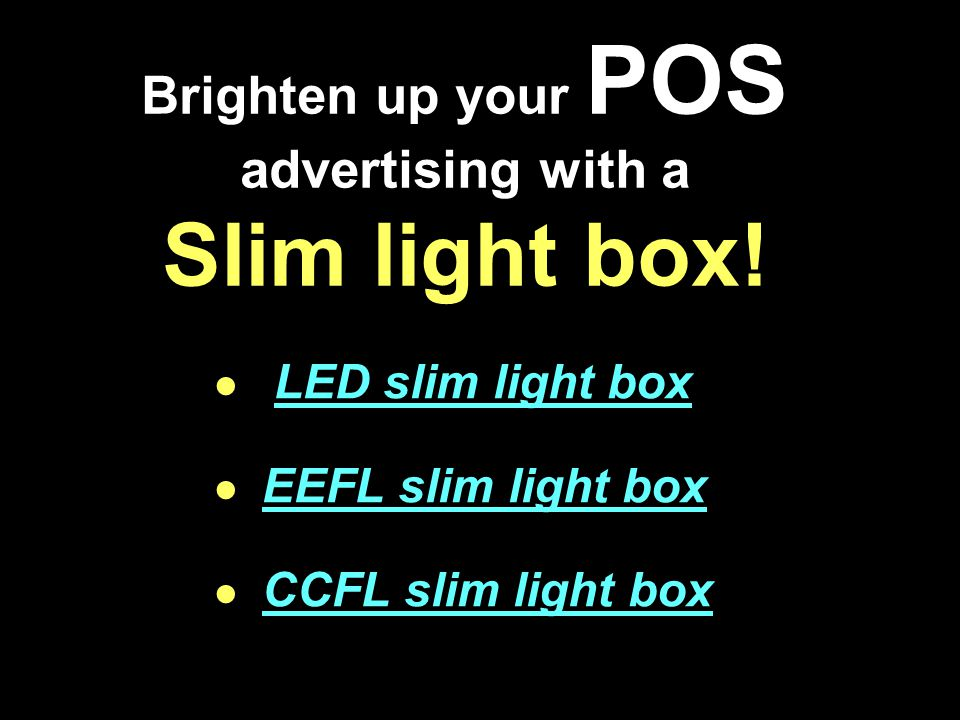 Slim light box VS Other light box Return