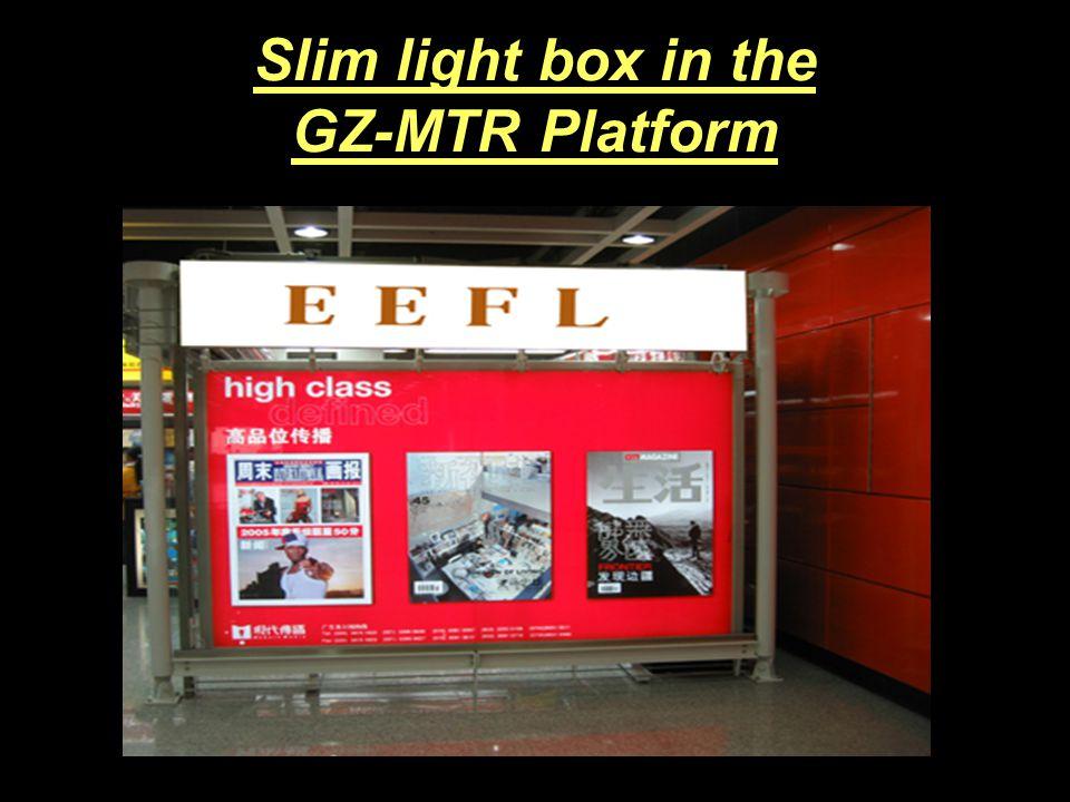 Slim light box in jewelry counter