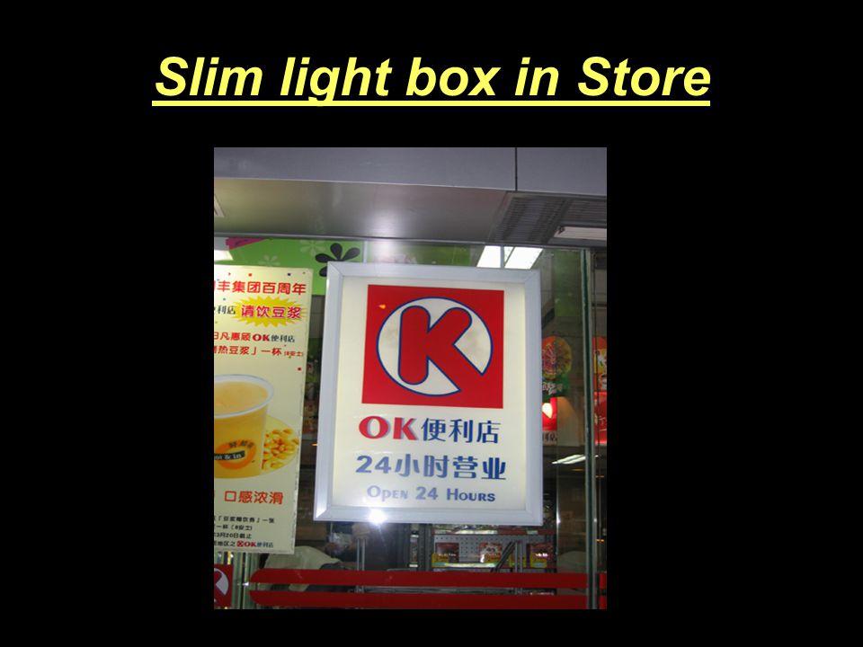Slim light box in Exhibition
