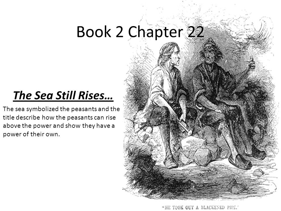 Book 2 Chapter 22 The Sea Still Rises… The sea symbolized the peasants and the title describe how the peasants can rise above the power and show they