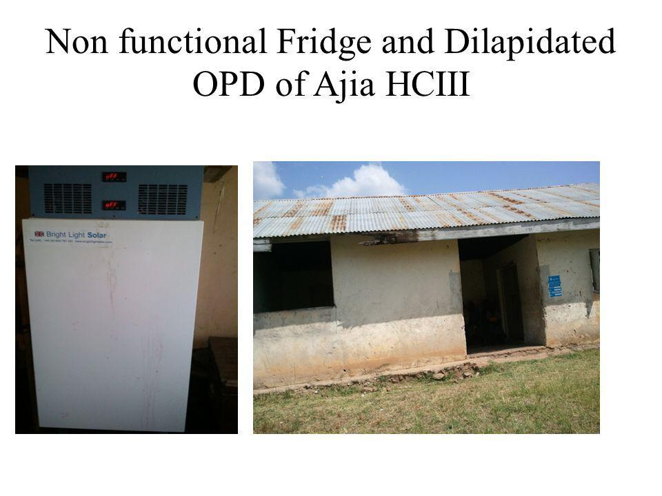 Non functional Fridge and Dilapidated OPD of Ajia HCIII
