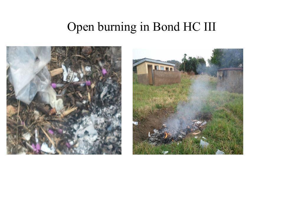 Open burning in Bond HC III