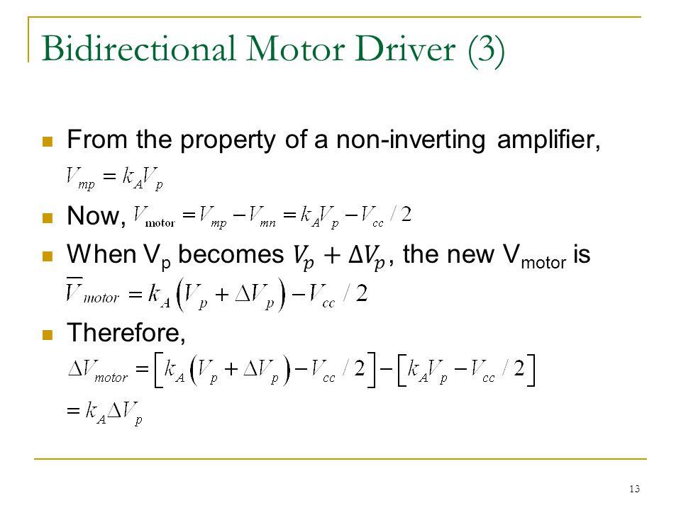 Bidirectional Motor Driver (3) 13