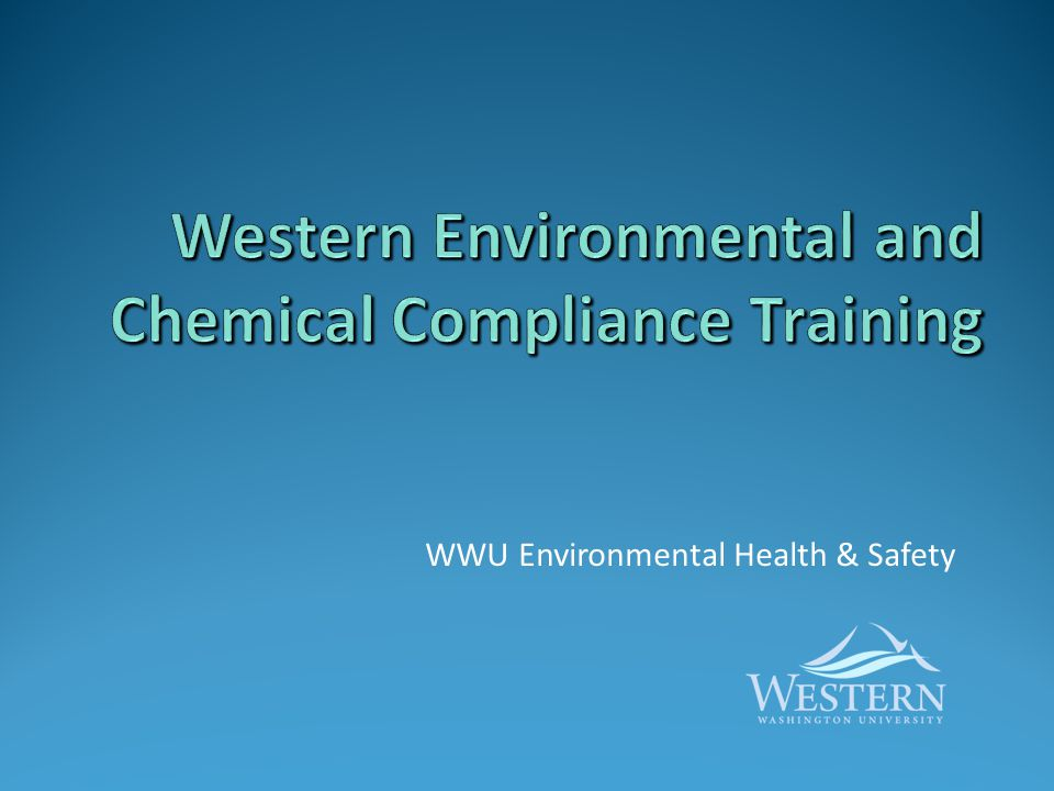 Contents This presentation contains five training modules that regulations require individuals to have when working with hazardous chemicals and generating hazardous waste.
