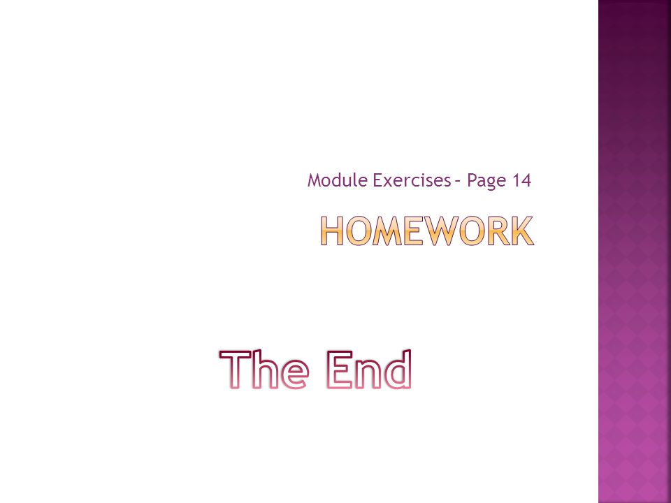 Module Exercises – Page 14