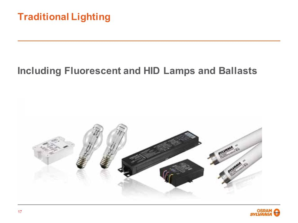 Traditional Lighting Including Fluorescent and HID Lighting: 17 Including Fluorescent and HID Lamps and Ballasts