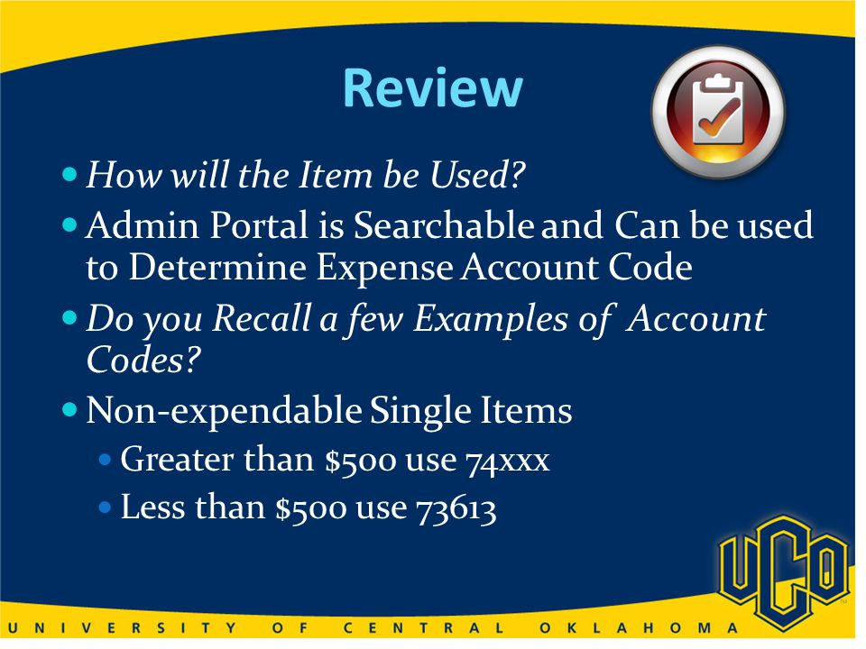 Questions to Considered Is your ProCard Default Expense Account Number set to 73614 Office Supplies.