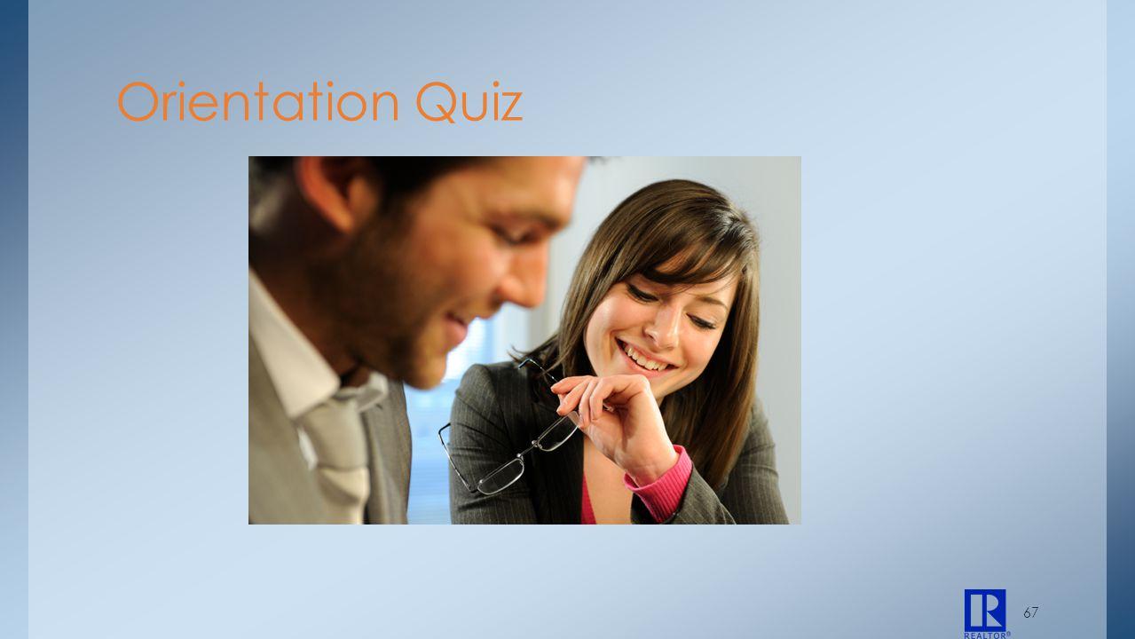 Orientation Quiz 67
