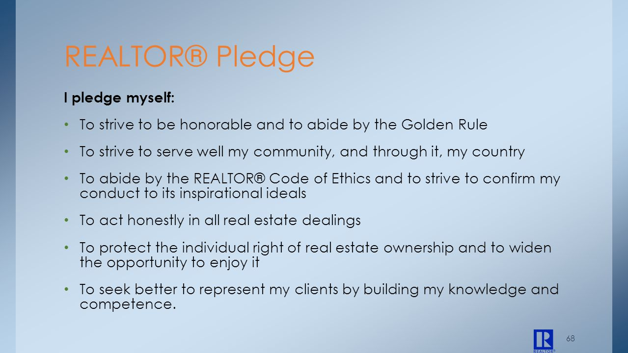 I pledge myself: To strive to be honorable and to abide by the Golden Rule To strive to serve well my community, and through it, my country To abide b