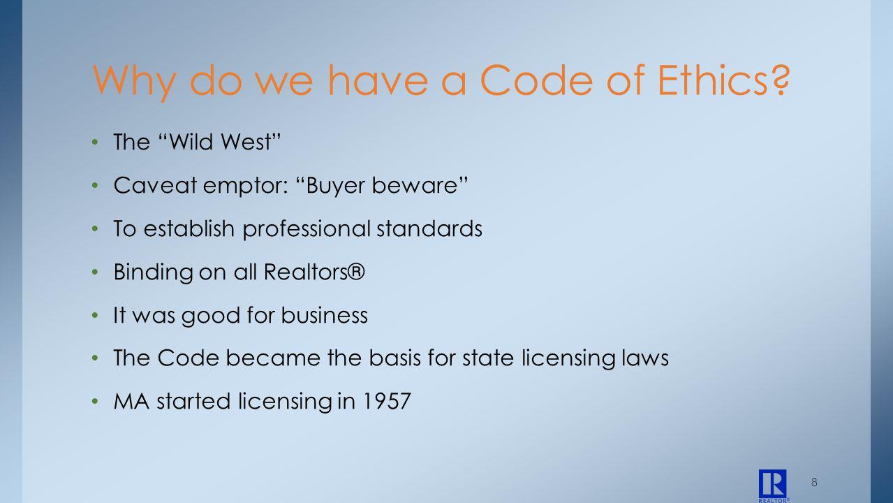 29 Case Studies Code of Ethics