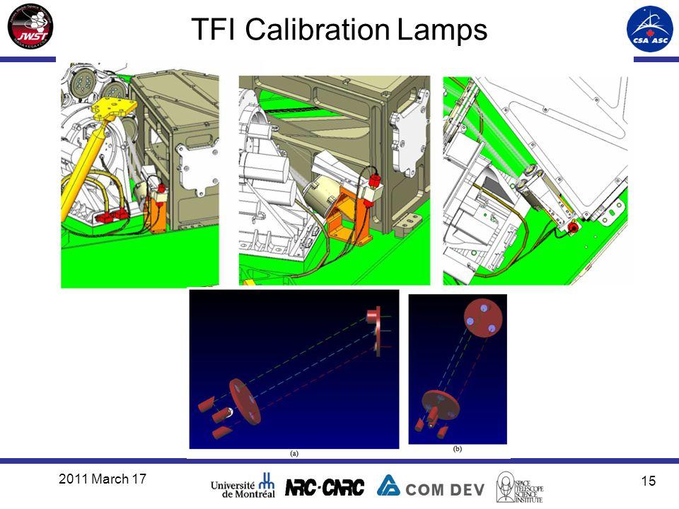 TFI Calibration Lamps 2011 March 17 15