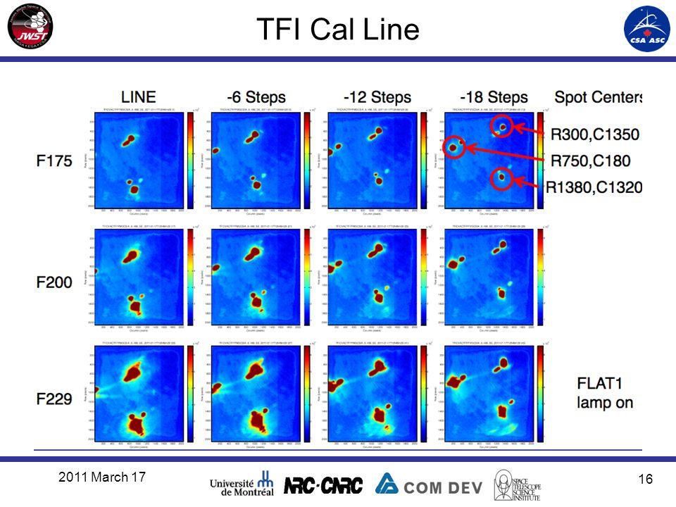 TFI Cal Line 2011 March 17 16