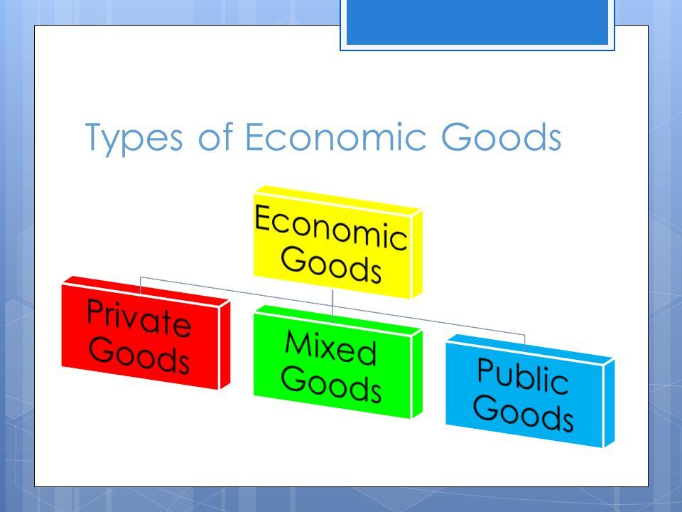 Types of Economic Goods