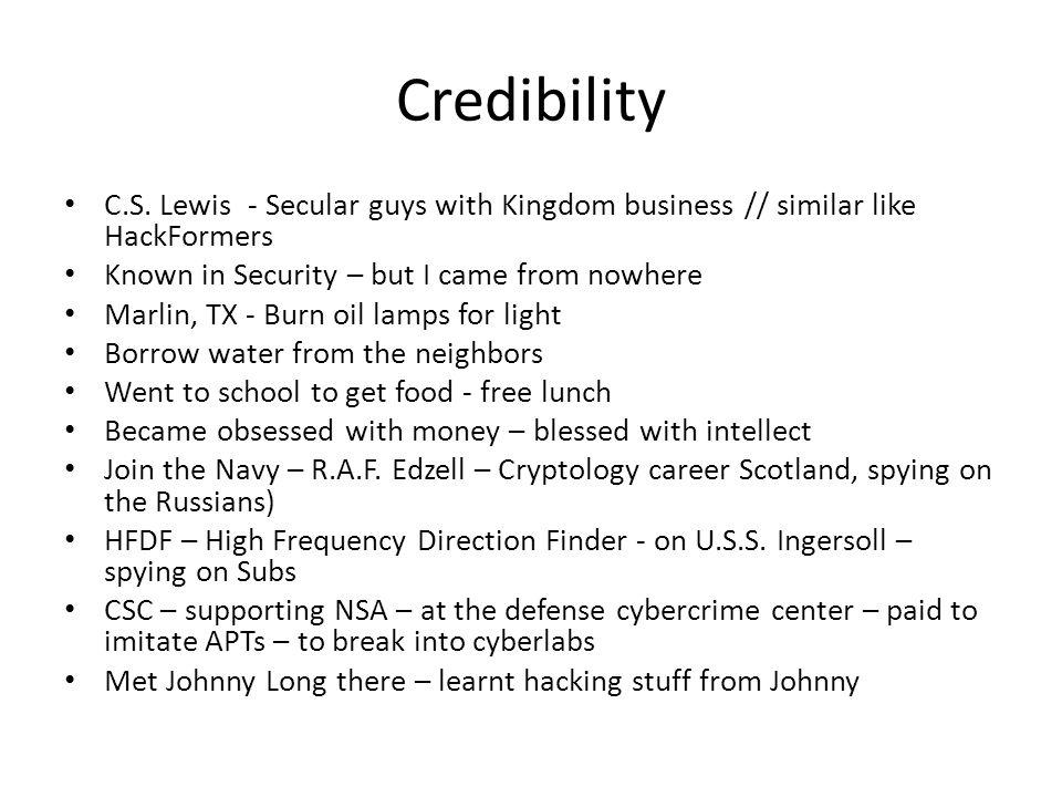 Credibility C.S.
