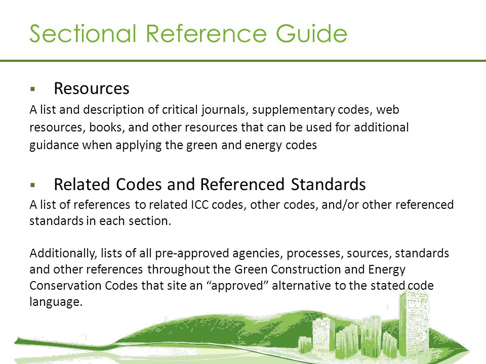 Sectional Reference Guide Resources A list and description of critical journals, supplementary codes, web resources, books, and other resources that c