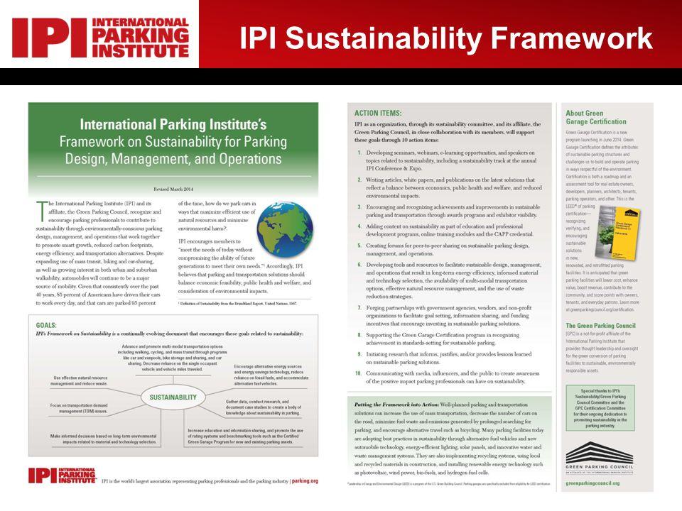 IPI Sustainability Framework