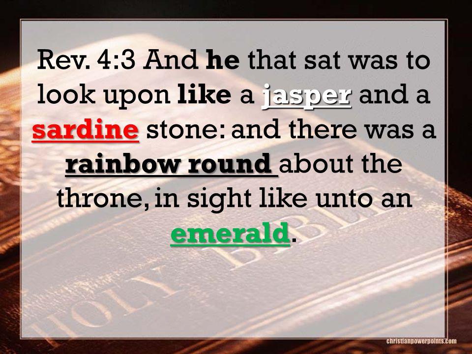 jasper sardine rainbow round emerald Rev.