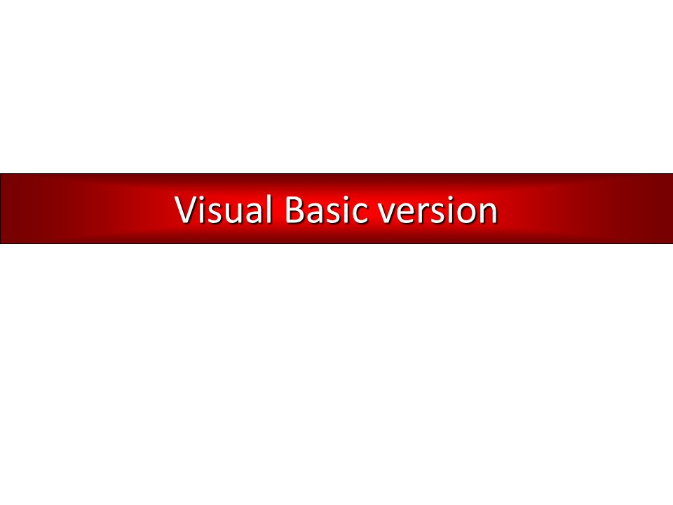 Visual Basic version