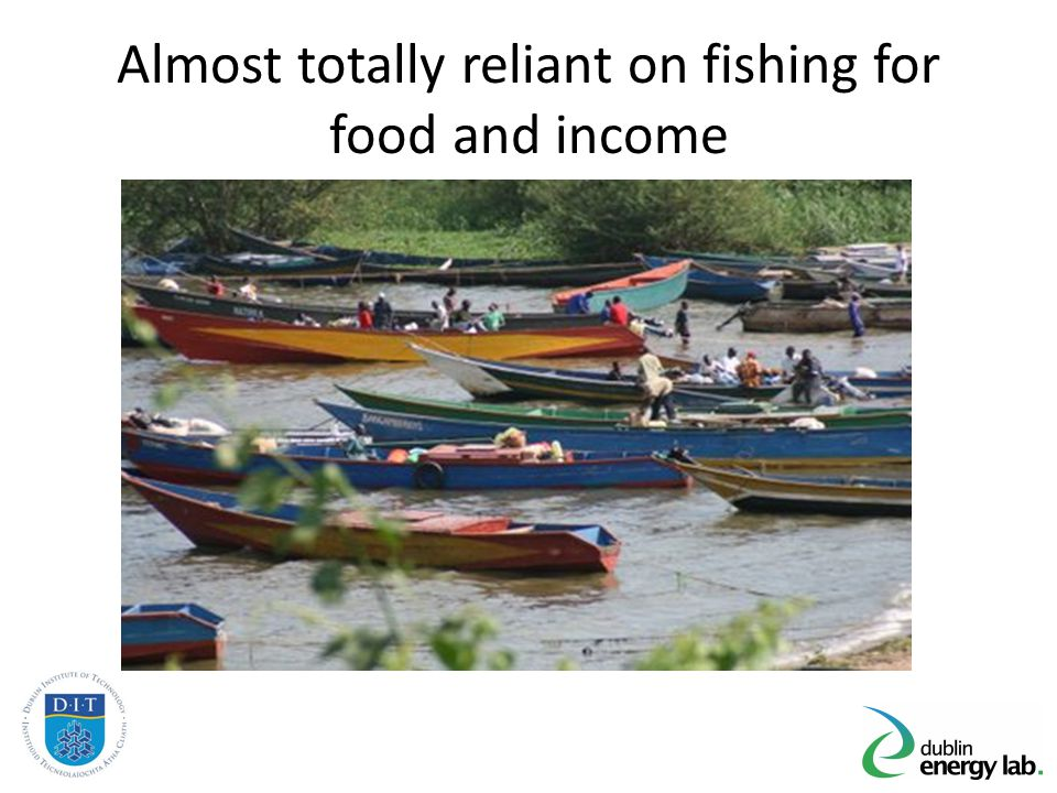 Almost totally reliant on fishing for food and income