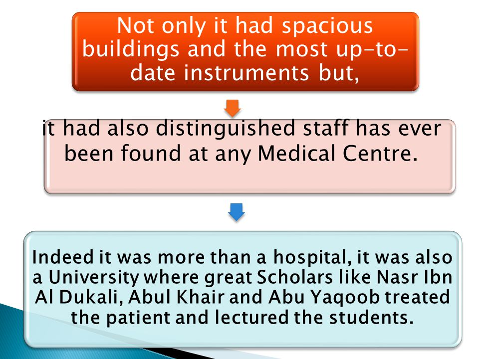 Not only it had spacious buildings and the most up-to- date instruments but, it had also distinguished staff has ever been found at any Medical Centre