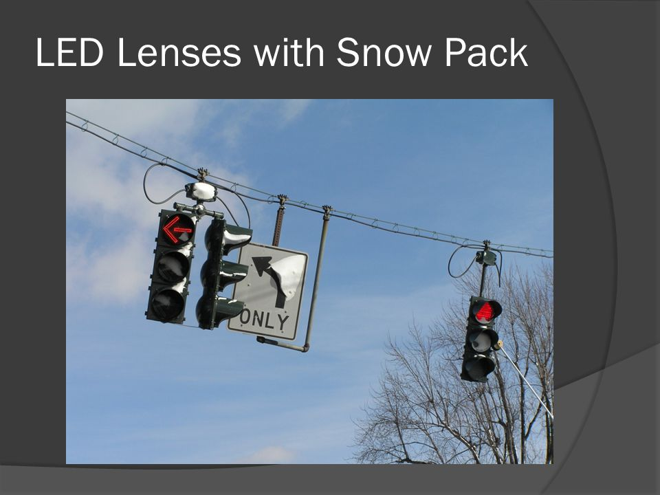 LED Lenses with Snow Pack