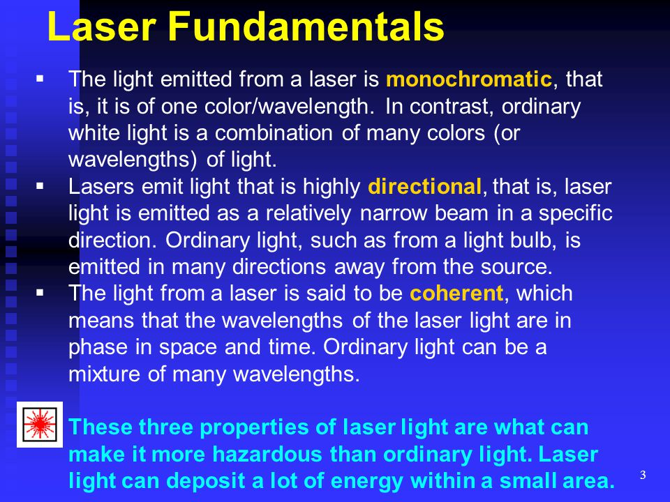 14 Lasers and Eyes What are the effects of laser energy on the eye.