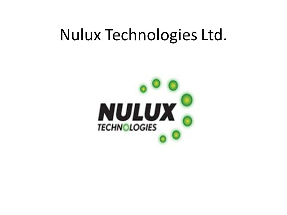 Nulux Technologies Ltd.