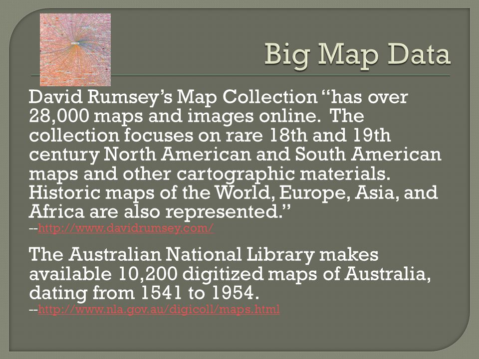David Rumseys Map Collection has over 28,000 maps and images online.