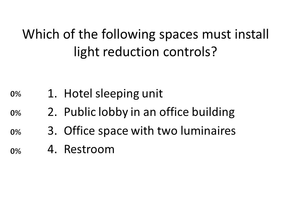 Which of the following spaces must install light reduction controls.