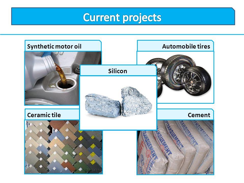 Synthetic motor oilAutomobile tires Ceramic tileCement Silicon
