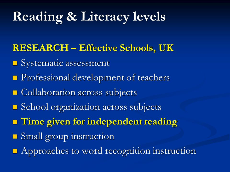 Reading Programme Independent Reading Group A Teacher 1 Read along Group B Teacher 2 Reading Circle Group C Teacher 3