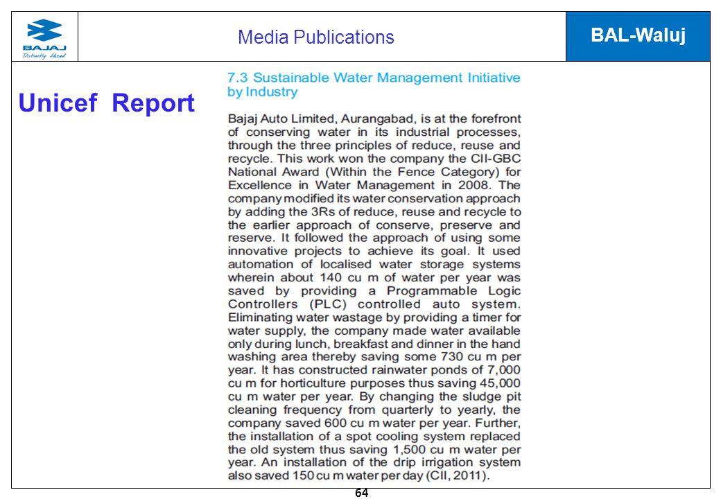 64 BAL-Waluj Unicef Report Media Publications