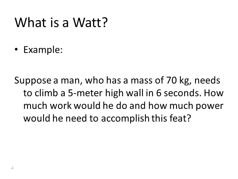 What is a Watt.