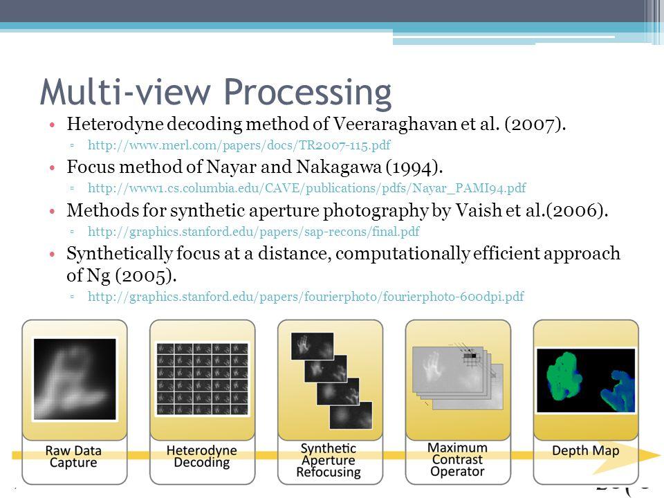 Multi-view Processing Heterodyne decoding method of Veeraraghavan et al.