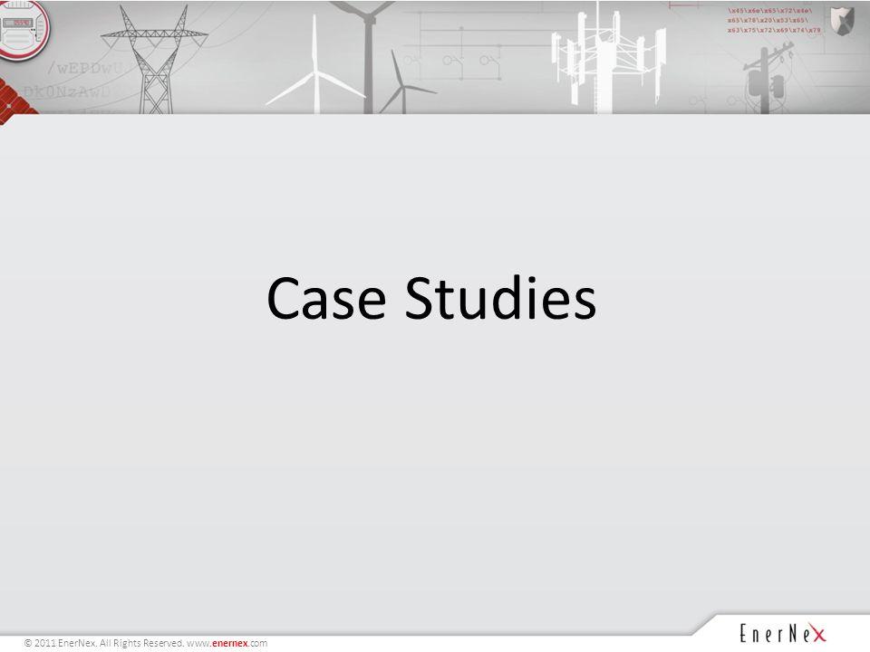 © 2011 EnerNex. All Rights Reserved. www.enernex.com Case Studies