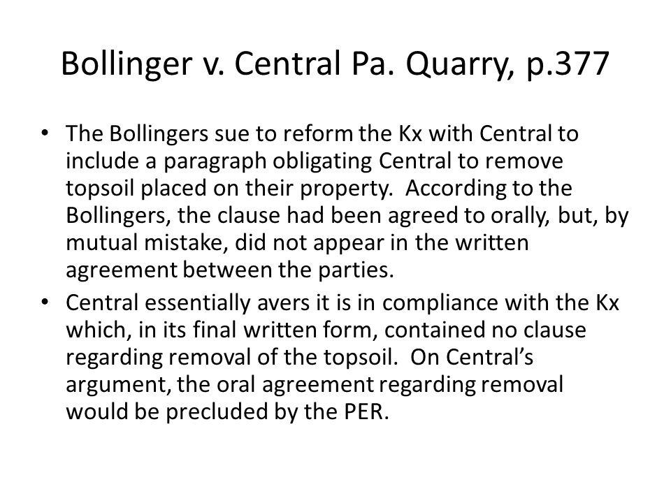 Bollinger v. Central Pa.