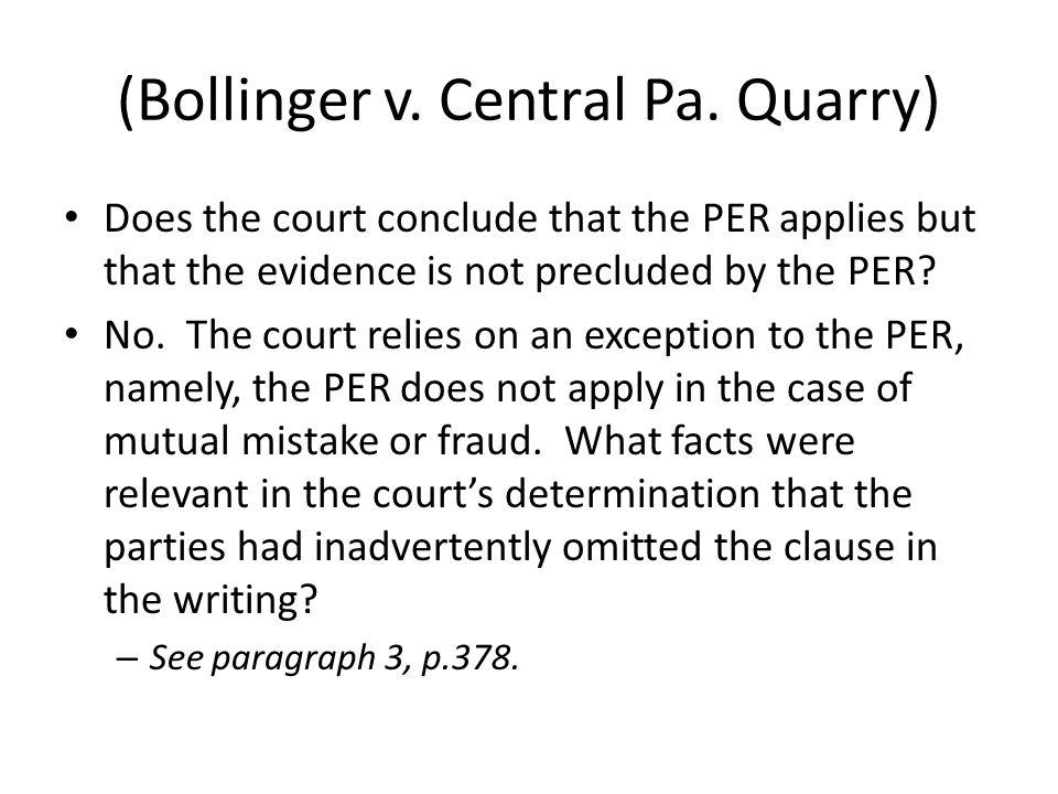 (Bollinger v. Central Pa.