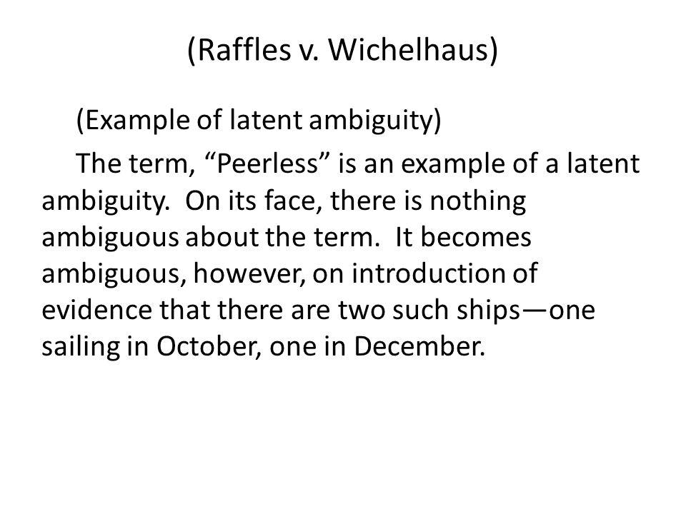 (Raffles v.
