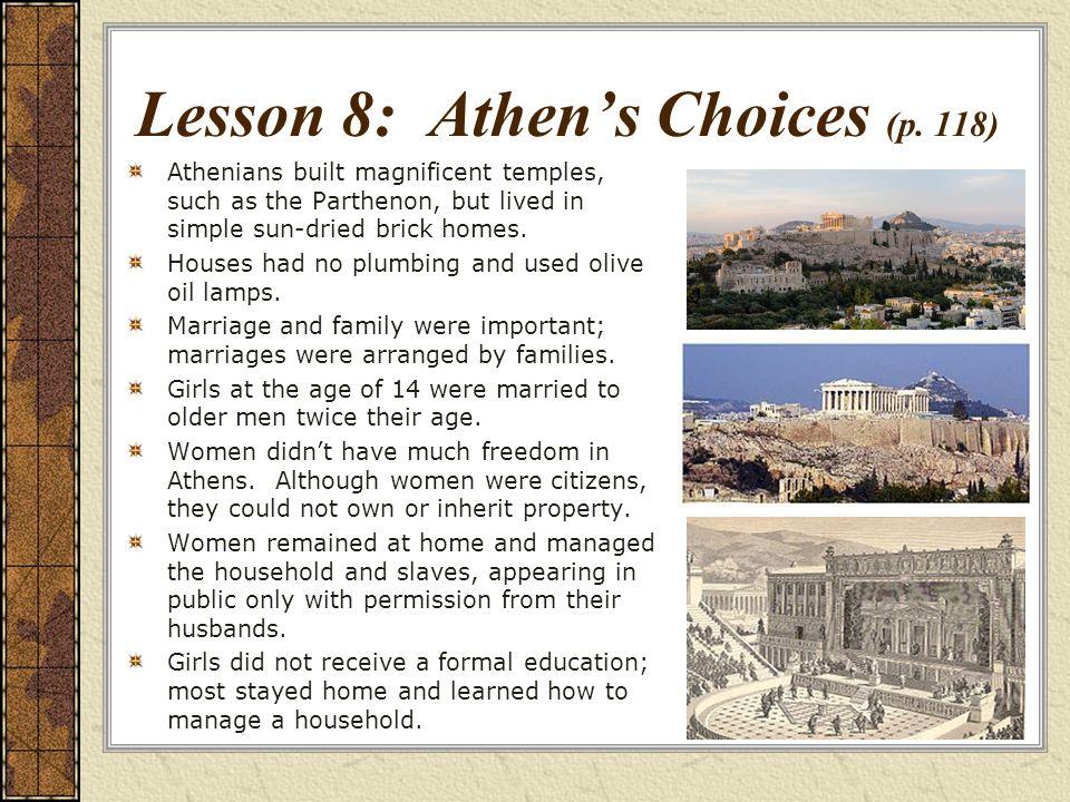 Lesson 8: Athens Choices (p.