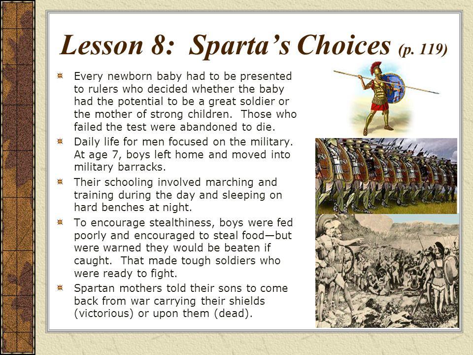 Lesson 8: Spartas Choices (p.