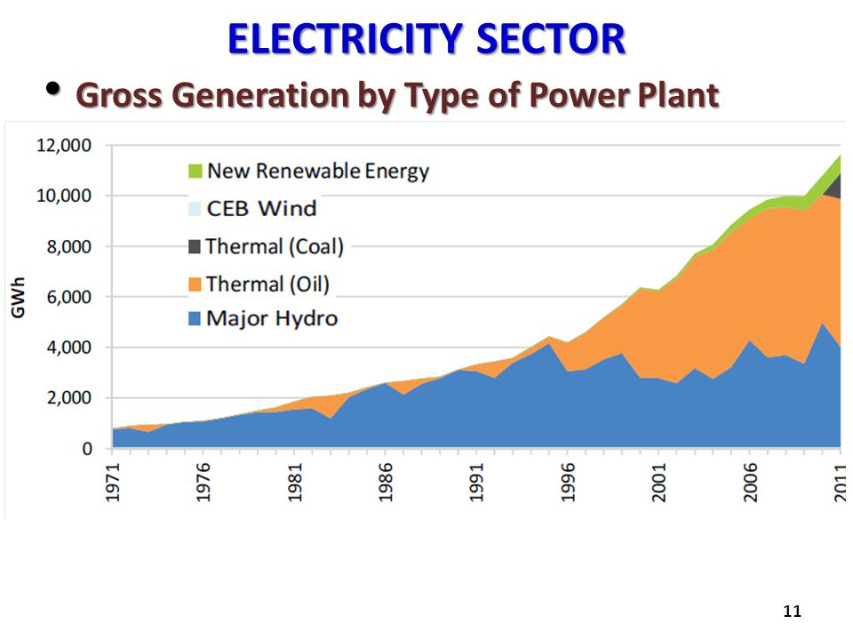 ELECTRICITY SECTOR Gross Generation by Type of Power Plant Gross Generation by Type of Power Plant 11